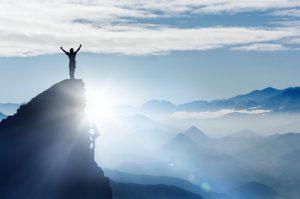 Mann Freiheit Berg Aussicht