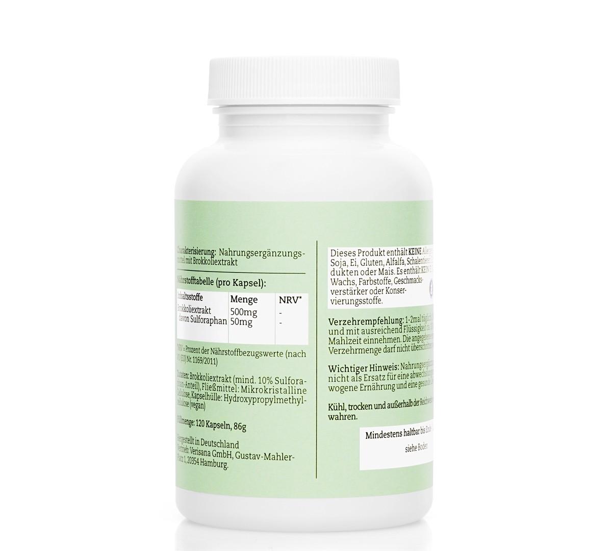 Brokkoliextrakt, Nahrungsergänzungsmittel mit Sulforaphan