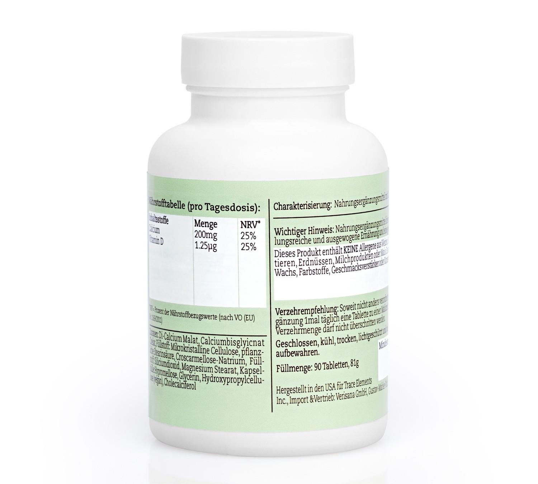 Calcium-Plus, Nahrungsergänzungsmittel mit zusätzlichem Vitamin D