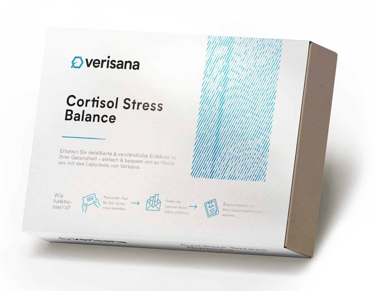 Stress Balance Speicheltest, Messung von Cortisol im Tagesprofil (5x)