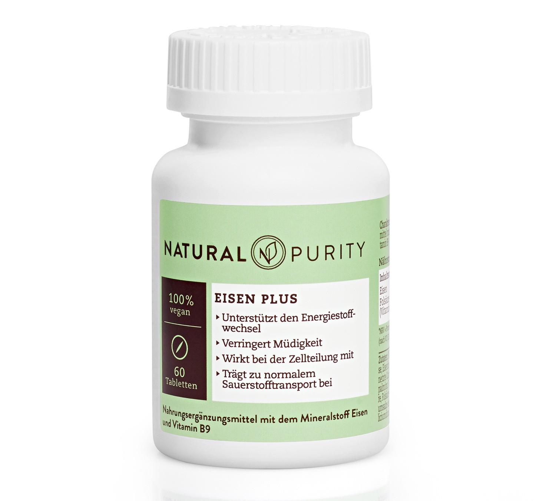 Eisen Pus, Nahrungsergänzungsmittel mit Vitamin C und Folsäure mit