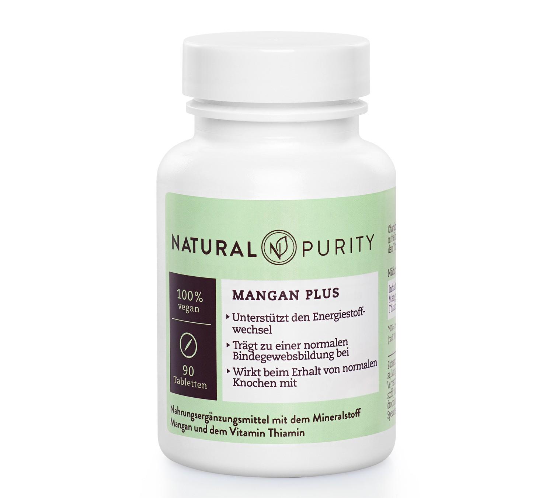 Mangan Plus, Nahrungsergänzungsmittel zur Unterstützung des Energiestoffwechsels