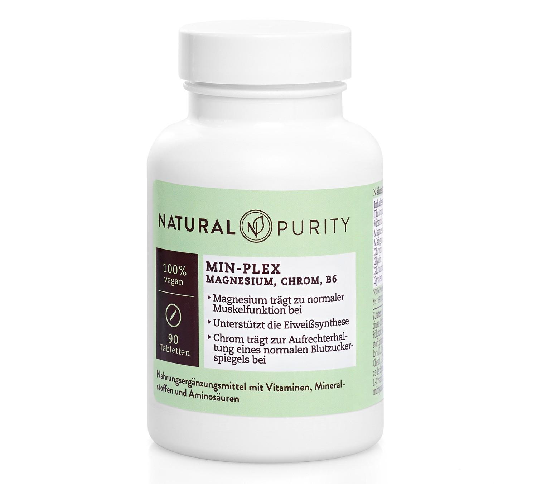 Min-Plex, Nahrungsergänzungsmittel ausMagnesium Plus, Chrom Plus und Vitamin B6
