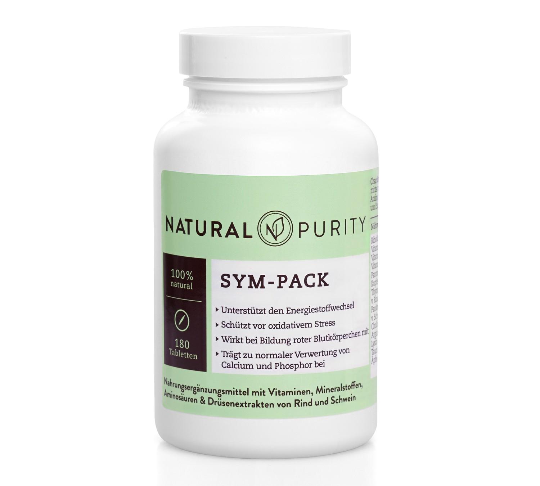 Sym-Pack, Nahrungsergänzungsmittel zur Unterstützung des Energiestoffwechsels und des Stoffwechsel von Steroidhormonen