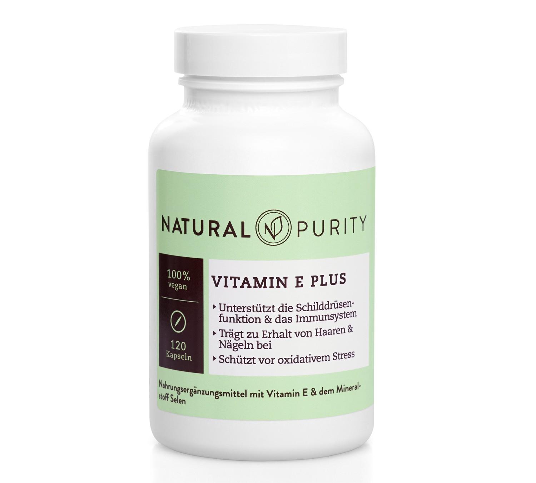 Vitamin E Plus, Nahrungsergänzungsmittel mit Selen-Aminosäuren-Chelat