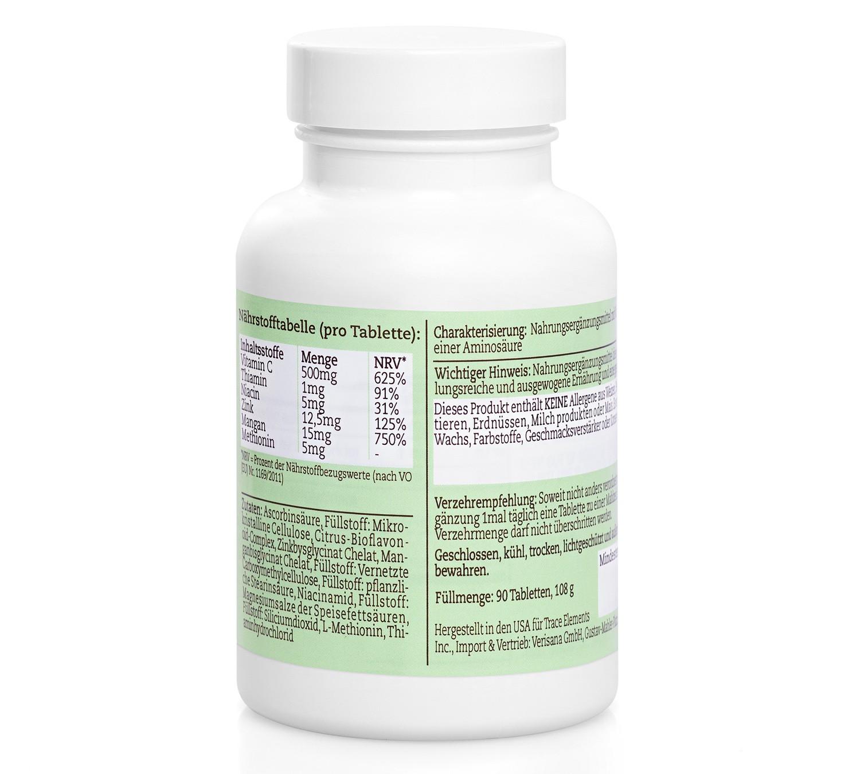 ZMC Plus, Nahrungsergänzungsmittel aus Zinc Plus, Mangan Plus und Vitamin C