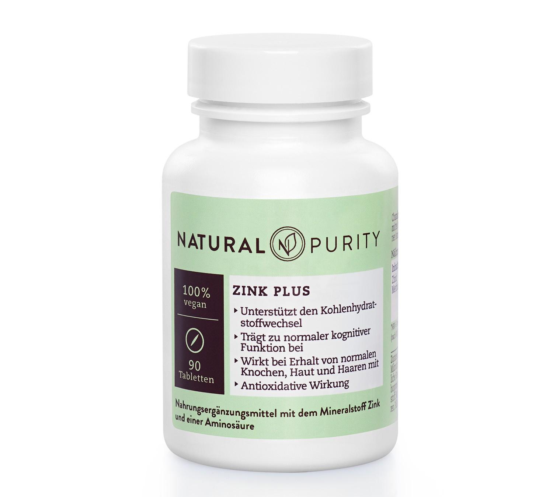 Zink Plus, Nahrungsergänzungsmittel zur Unterstützung des Kohlenhydratstoffwechsels