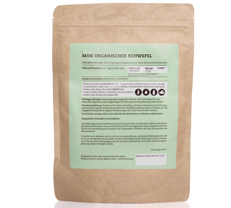 MSM Organischer Schwefel, Nahrungsergänzungsmittel